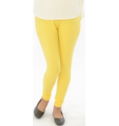 Yellow Cotton Lycra Leggings - 700 GSM