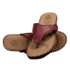 Rudra Collection Synthetic Leather Maroon T Strap Platform Flip Flop