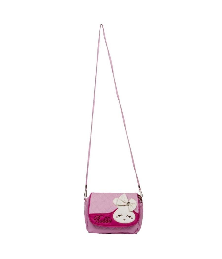 Envie  Pink Zipper Closure Quilted Pattern Sling Bag