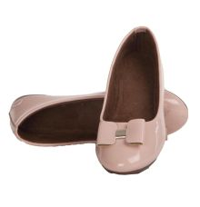 MCS Synthetic Leather Pink Coloured Broad Toe Belly Shoes