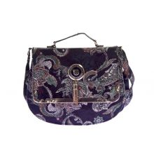 Envie Faux Leather Black and Multi Colour Printed Sling Bag