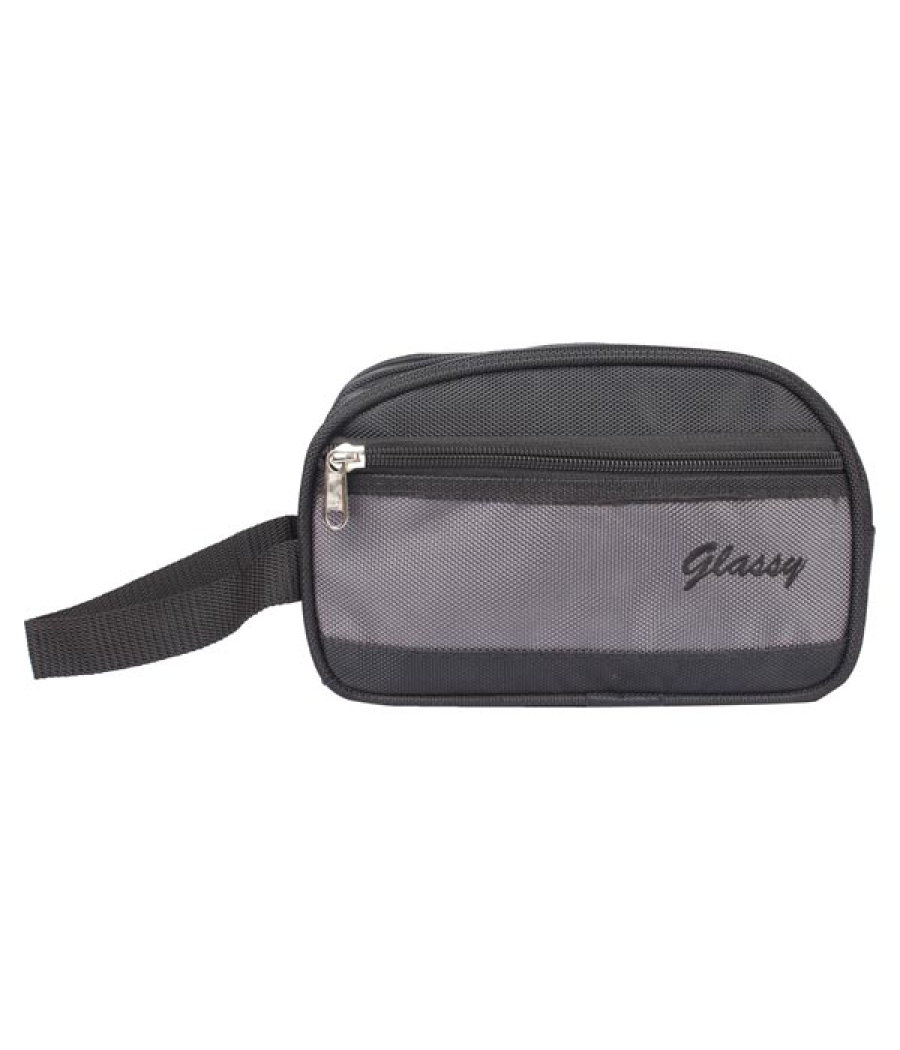 Envie Faux Leather Black Coloured Zipper Closure Cosmetic Bag