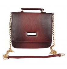 Aliado Faux Leather Embellished     Black and Magenta Magnetic Snap Closure Crossbody Bag