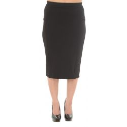 Next Polyester Croc Texture Black Pencil Skirt