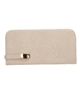 Envie Faux Leather Cream Colour Magnetic Snap Clousre Minaudiere Style Clutch