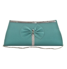 Envie Faux Leather Solid Sea Green Magnetic Snap Crossbody Bag