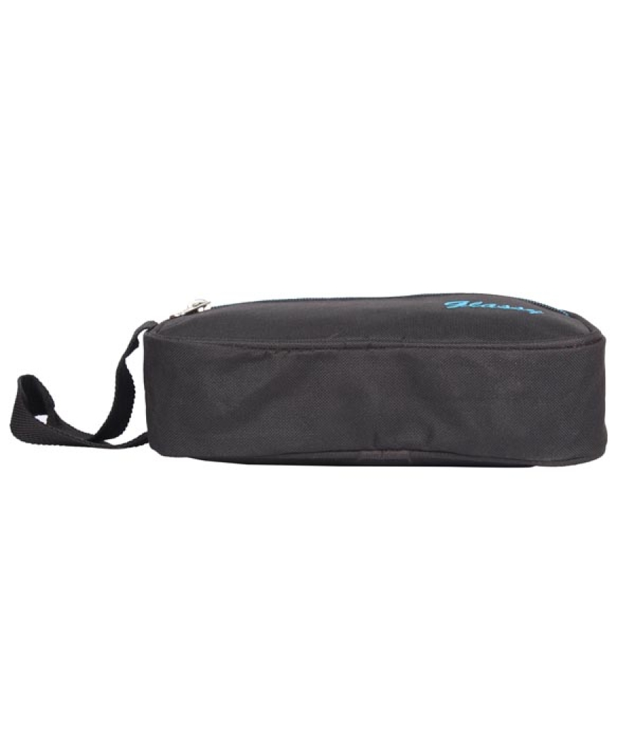 Envie Faux Leather Black Coloured Zipper Closure Cosmetic Bag