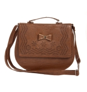 Envie Faux Leather Coffee Brown Magnetic Snap Crossbody Bag