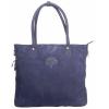 Buck Leather Dark Blue Handbag