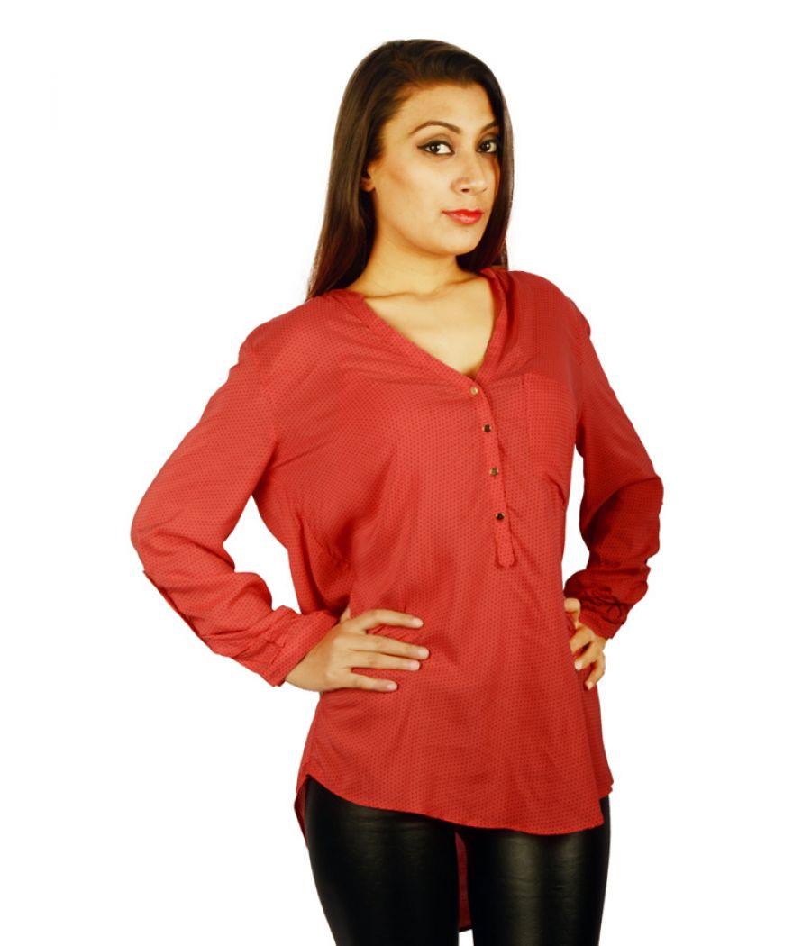 Zara Basic Red Blouse