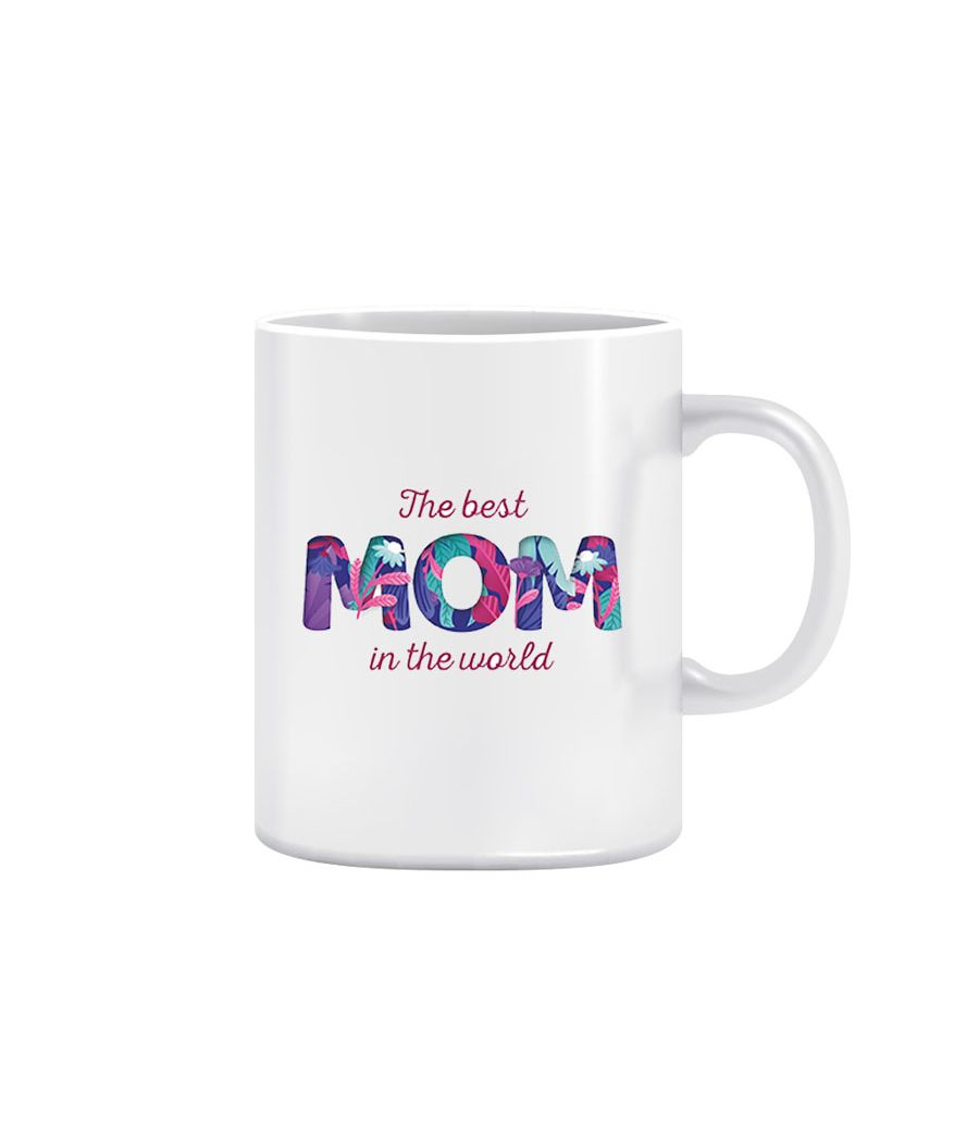Joy N Fun - BEST        MOM -  Printed Coffee Mug, 320ml, White