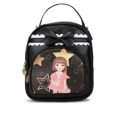 Envie Black Colour Printed Backpack for School Girls