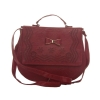 Envie Faux Leather Solid Red Magnetic Snap Crossbody Bag