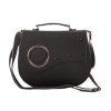 Envie Faux Leather Embellished Black  Magnetic Snap Crossbody Bag