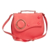 Envie Faux Leather Solid Pink Magnetic Snap Closure Sling Bag