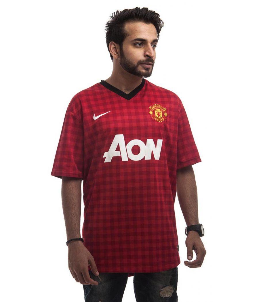 Dri-FIT Polycotton Plain Checkered Red Plain Half Sleeves Sports T-shirt