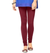 Magenta Cotton Lycra Leggings - 700 GSM