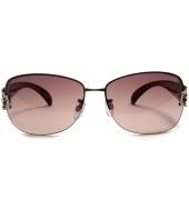 Parim Brown Square Sunglasses