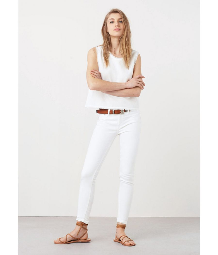 Olivia Mango White Skinny Jeans