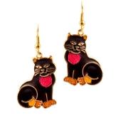 Enamel Cat Earrings