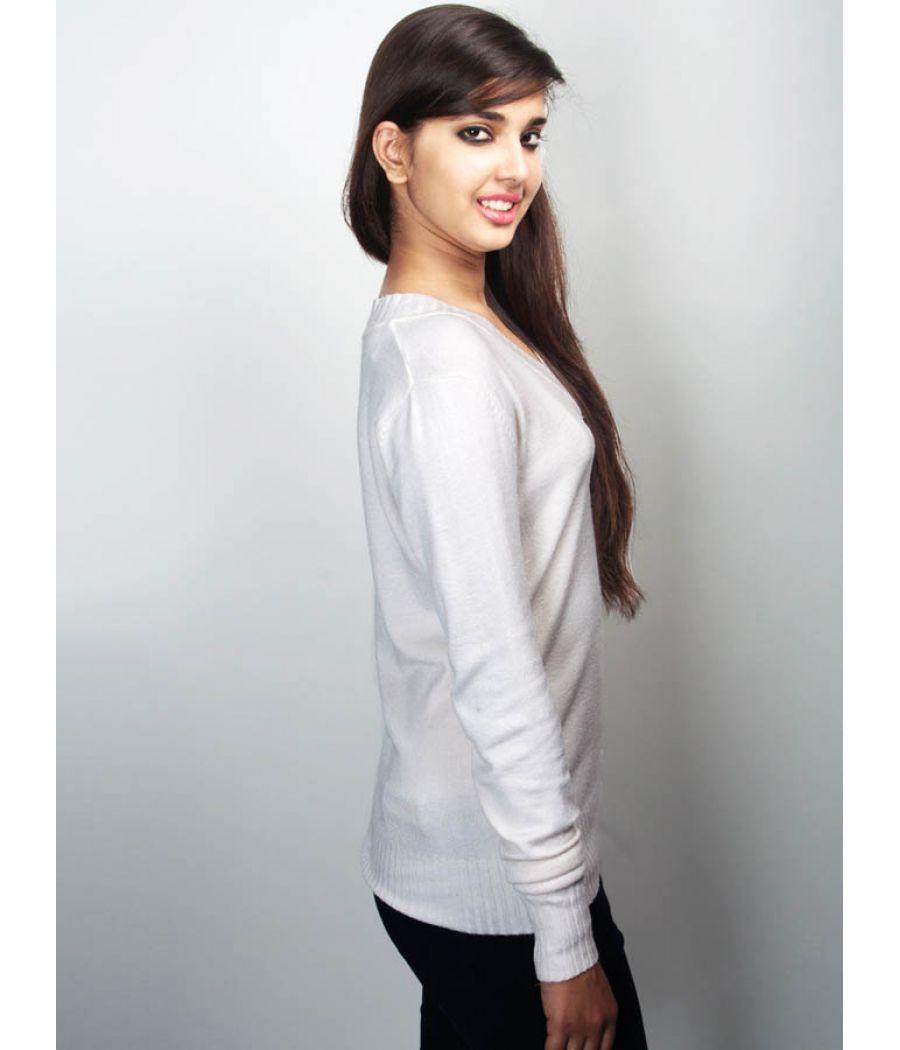 Polo  White Sweater