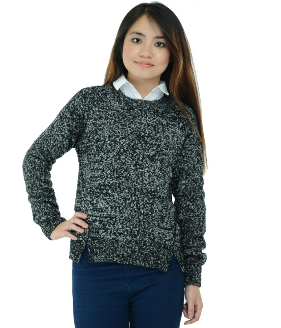 New Look Black and White Pullover