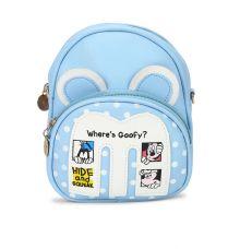 Envie Blue Colour Printed Backpack for School Girls