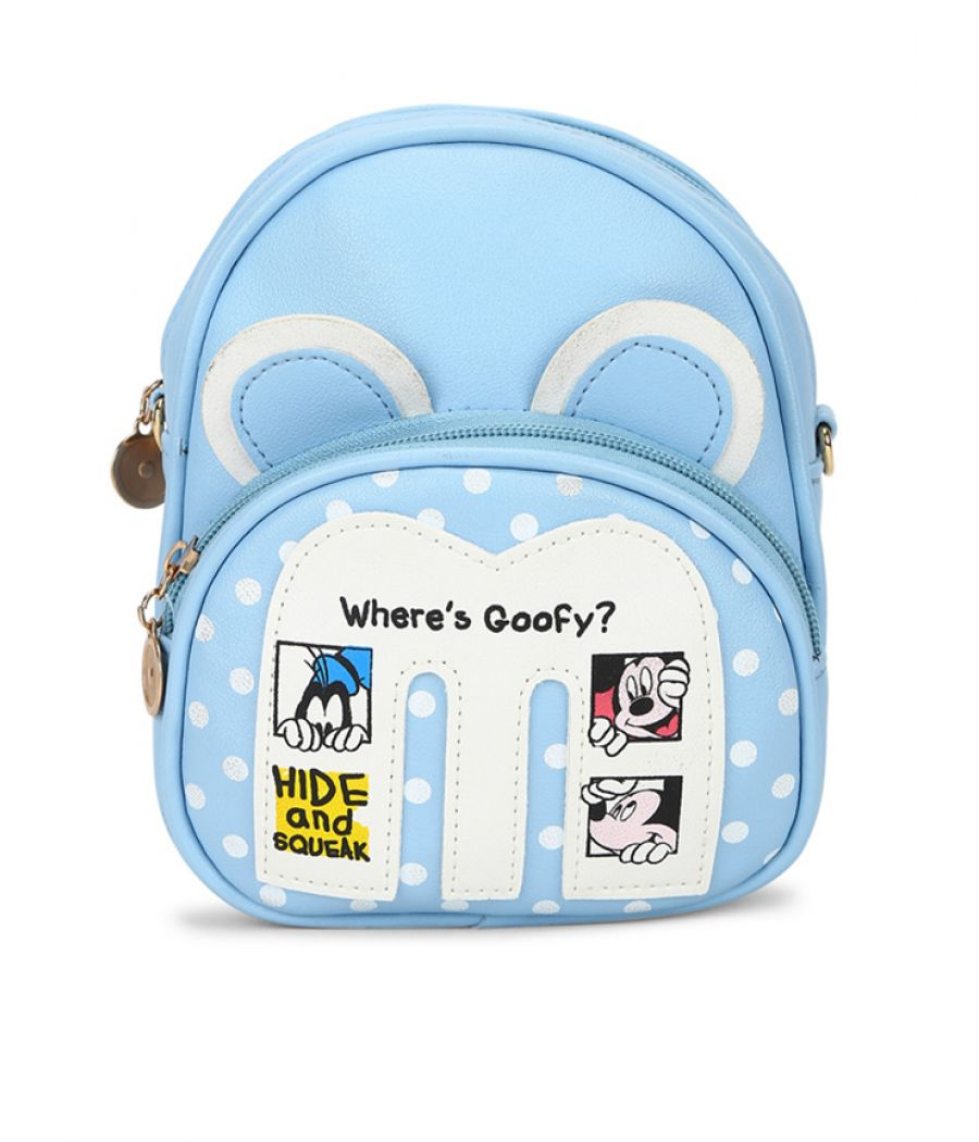 Envie Blue Colour Printed Backpack for School Girls