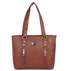 Aliado                     Faux Leather Cofee Brown Coloured Zipper Closure Handbag