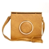 Envie Faux Leather Solid Beige Magnetic Snap Closure Stylish Sling Bag