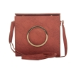 Envie Faux Leather Solid Peach Magnetic Snap Closure Stylish Sling Bag