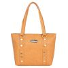 Aliado Faux Leather Mustard Coloured Zipper Closure       Handbag