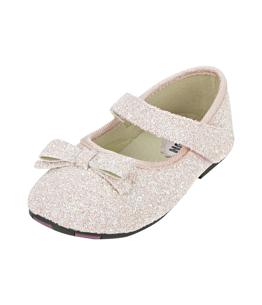 Joy n Fun Sparkly Front Strap Decorated Pink Party Wear Shoes for  Girls