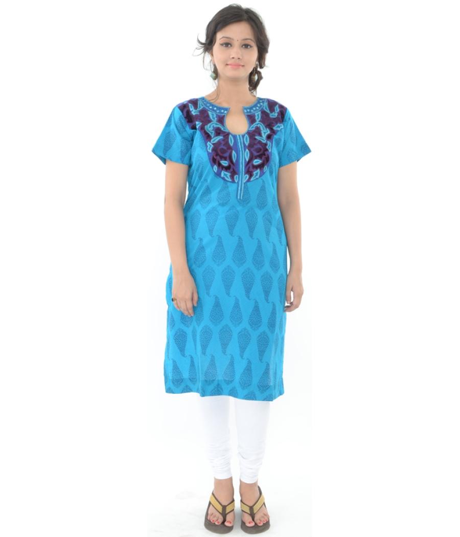 Blue Printed Kurta