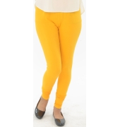 Dark Yellow Cotton Lycra Leggings - 700 GSM