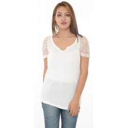 Zara Lace Sleeves White Top