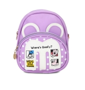 Envie Purple Colour Printed Backpack for School Girls