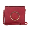 Envie Faux Leather Solid  Pink  Magnetic Snap Sling Bag for Women