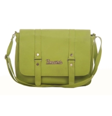 Envie Faux Leather Solid Olive Magnetic Snap Crossbody Bag