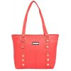 Aliado Faux Leather        Red Coloured Zipper Closure Handbag