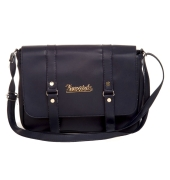 Envie Faux Leather Solid Blue Magnetic Snap Sling Bag