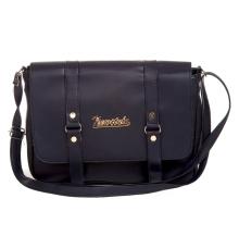 Envie Faux Leather Solid Blue Magnetic Snap Sling Bag