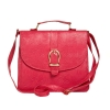Envie Faux Leather Solid Pink Magnetic Snap Closure Crossbody Bag