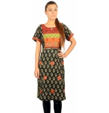 Vegetable Dyed Multicoloured Cotton Kurta