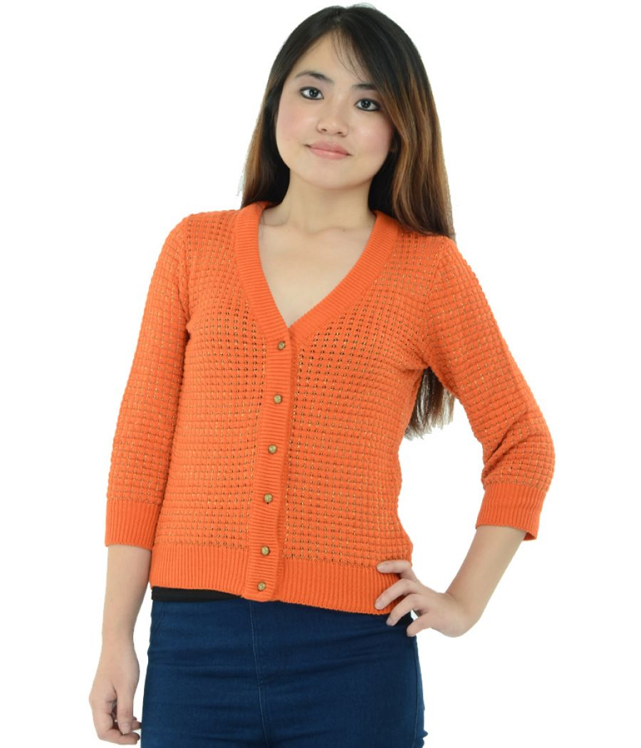Zara Knit Orange Cardigan