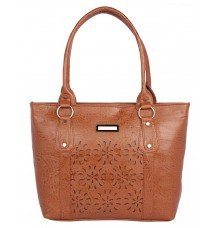 Aliado Faux              Leather Coffee Brown Coloured Zipper Closure Handbag