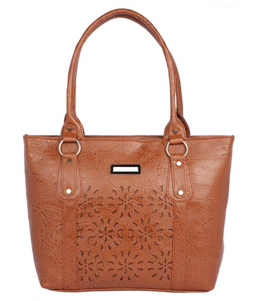 Aliado Faux              Leather Coffee Brown Coloured Zipper Closure Handbag