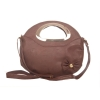 Envie Faux Leather Solid Pink Zipper Closure Sling Bag