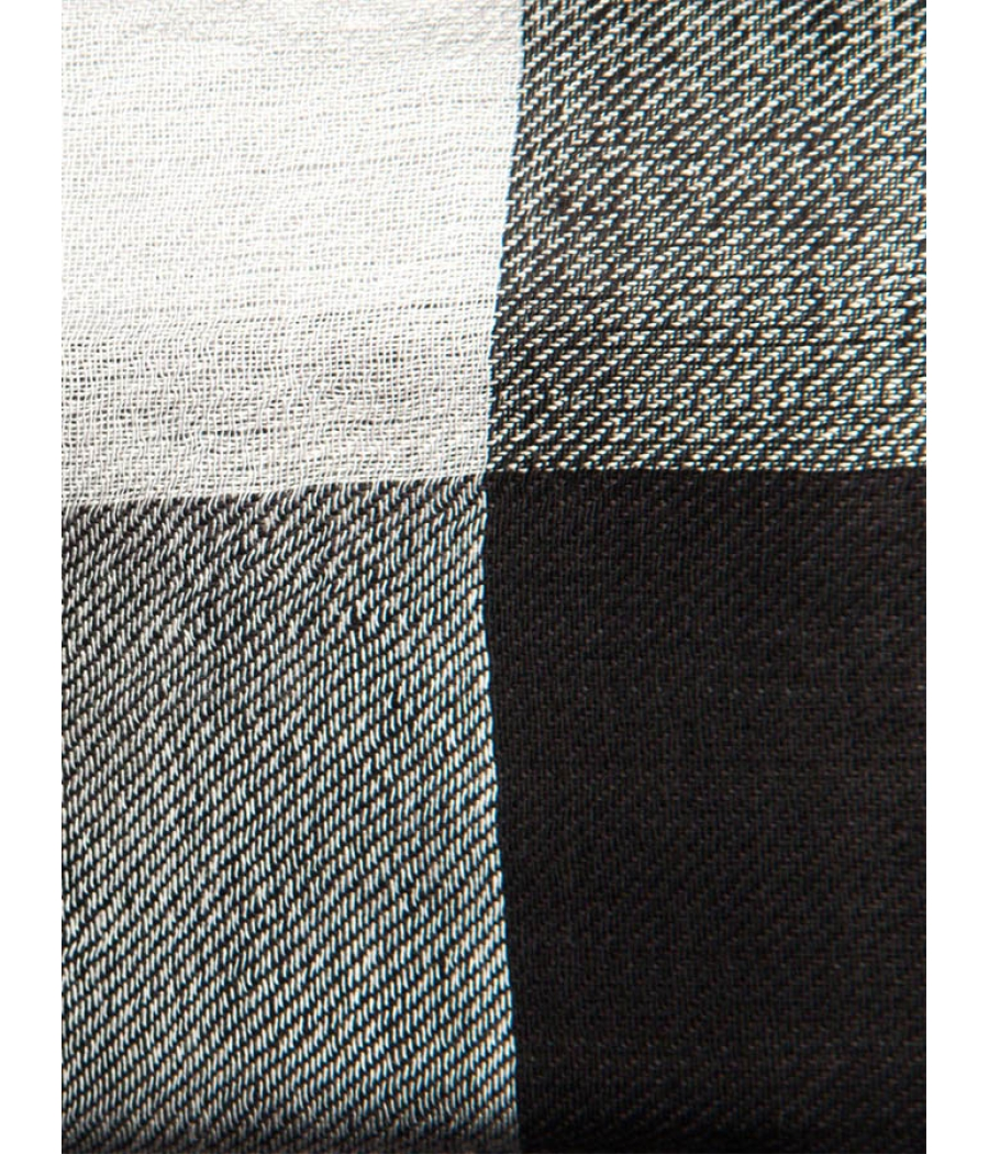 Black and White Checkered Stole