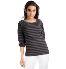 Black and Grey Striped Top